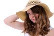Teenager in straw hat