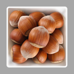 shelled hazelnut