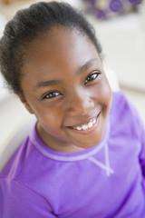 Smiling Black girl