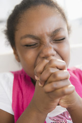 Black girl praying