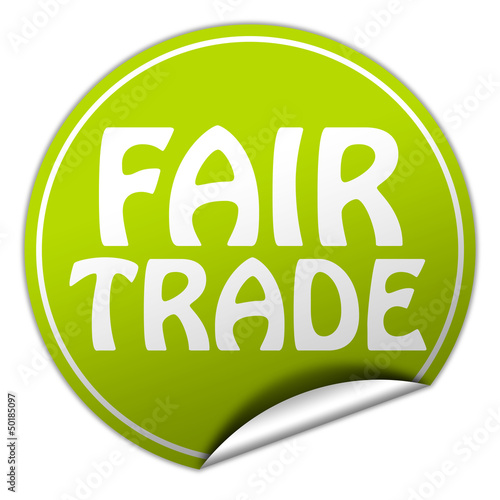 fair trade sticker