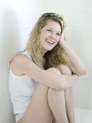 Smiling Caucasian woman