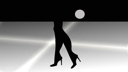 gambe di donna su sfondo astratto