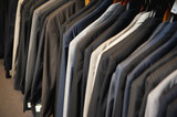 Men's suit jackets in clothing store