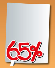 paper with sixty-five percent icon