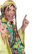 Man in a hippie costume