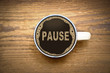 canvas print picture - Pause Kaffe Becher