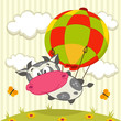 cow in the balloon