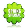 spring special green flower label