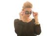 hübsches Model mit Sonnenbrille