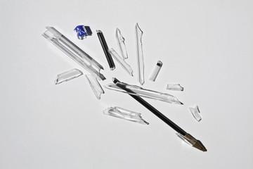 Broken ballpoint pen