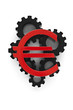 Euro symbol on top of cogs