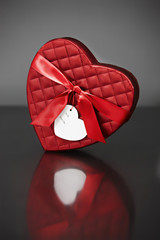 Red Valentine's heart-shaped box