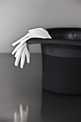 White gloves and top hat