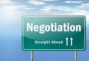 "Highway Signpost ""Negotiation"""