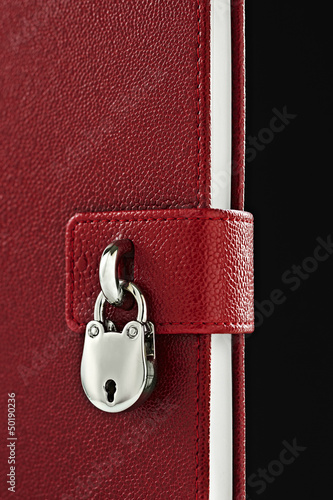 Close up of lock on diary