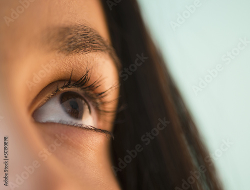 Close up of Hispanic teenager's eye