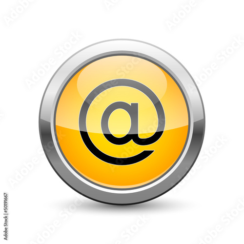 at sign e-mail icon button internet