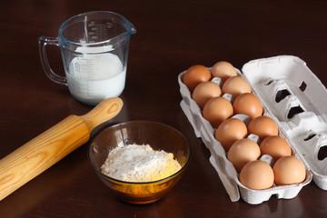 harina huevos