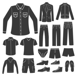 Set of Men's Clothing.