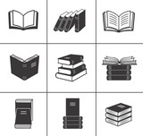 Fototapety Book icons set.