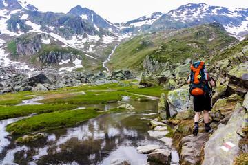 Wandern Rheinquelle