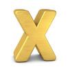 buchstabe letter X gold vertikal