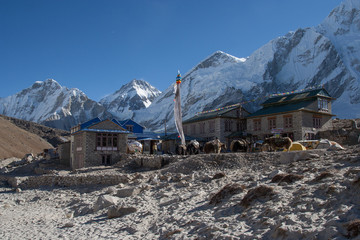 Dorf im Himalaya