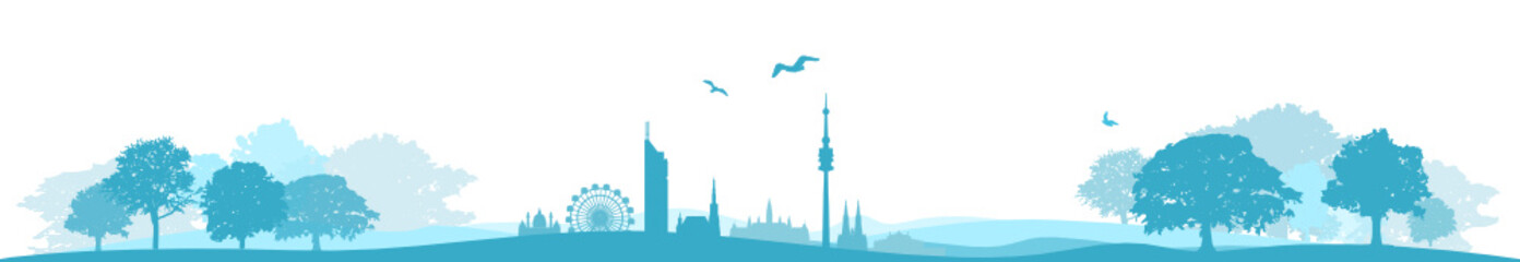 Wien Landschaft Skyline