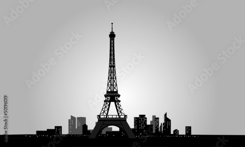 eiffel tower and city in paris