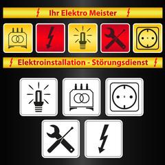 elektro firma vektor symbole