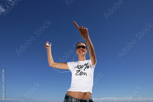 Woman jogging at the seaside