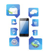 Smartphone application icons