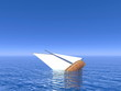 Sinking boat - 3D render