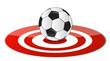 soccer ball target concept