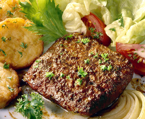 steak hachés façon bouchère cuit