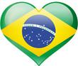 Herz mit Flagge Brasilien