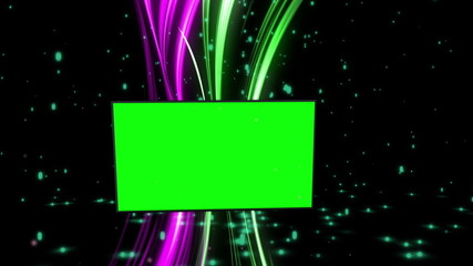 Montage of green screens with abstract background