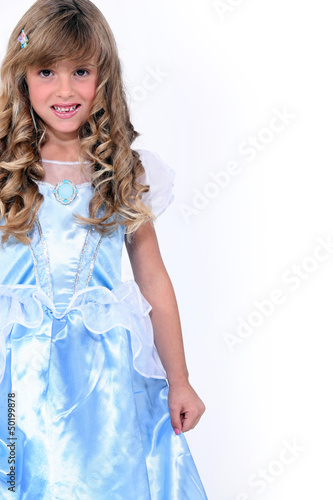 little girl in a princess dress