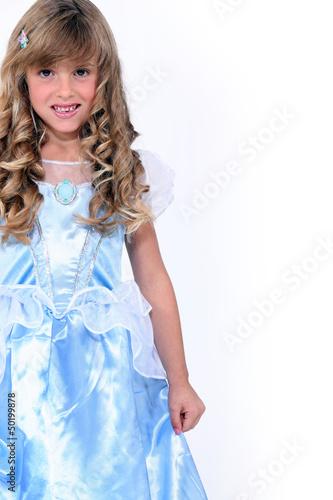 little girl in a princess dress