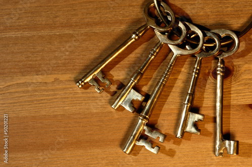 Bunch of antique keys
