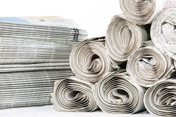 Newspapers Closeup