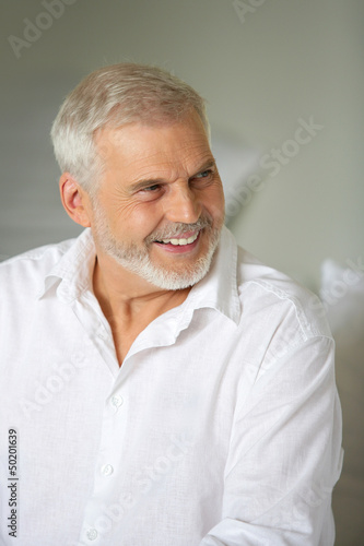 Smiling senior man