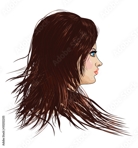 Girl with brown hair
