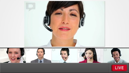 Live chat with customer service agents loading up
