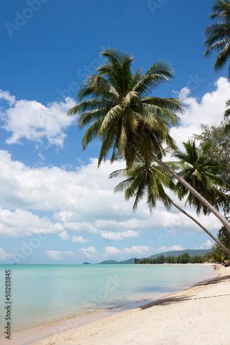 Na plaży, Lipa Noi, wyspie Samui, Tajlandia.