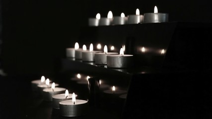 Candles at the alter being blown out