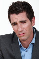 businessman crying