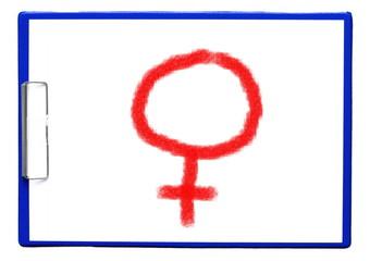 Symbol weiblich auf Clipboard