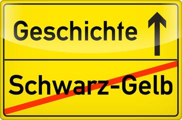 Schwarz-gelb.Geschichte?